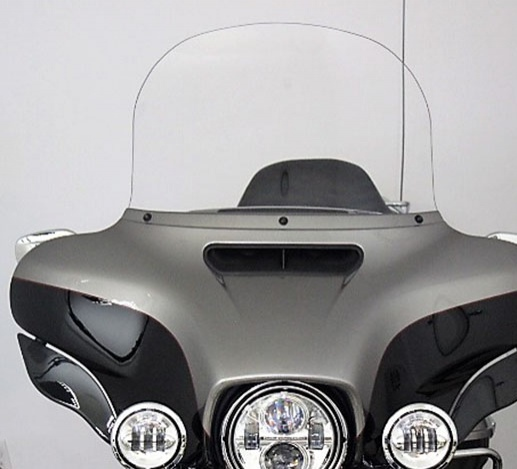 "Windshield for HD 2014 and Newer Ultra Classic/Street Glide 15"" Clear Recurve"