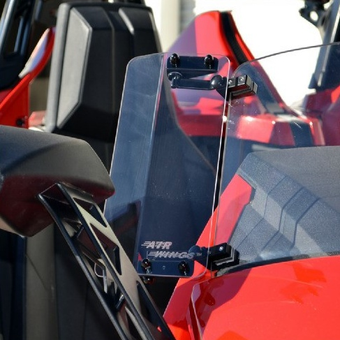 Polaris Slingshot Windshield Mounted Air Wings