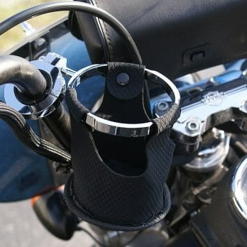 Chrome cup holder handlebar mount
