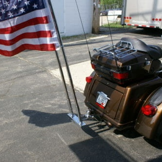 3 Piece Stainless Steel Heavy Duty Flag Holder