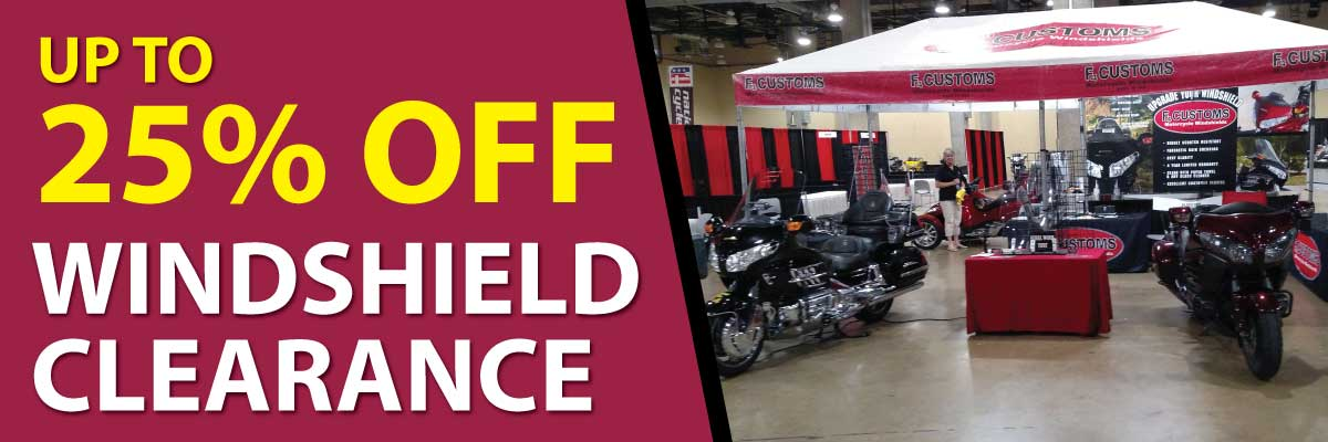 Motorcycle windshield discount